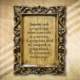 Fatábla mives keretben idézettel