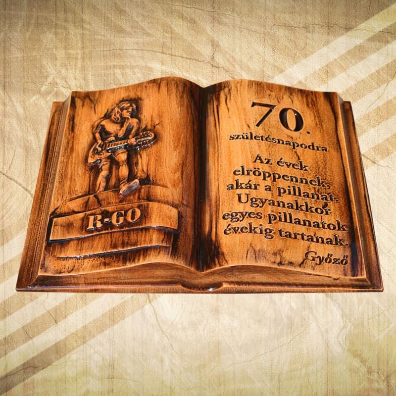 idézetek 70 születésnapra 70. születésnapra egyedi ajándék fakönyv   Mívesfa
