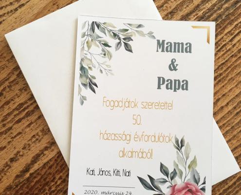 Ajándékkártya házassági évfordulóra