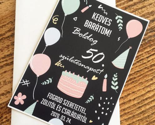 Kialakult helyzetre akándékkártya születésnapra