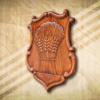 Alsónémedi címere oldalnézetből