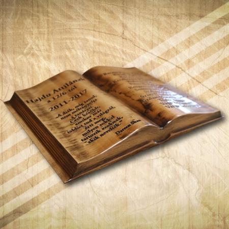 Ballagási ajándék fakönyv díszdobozban