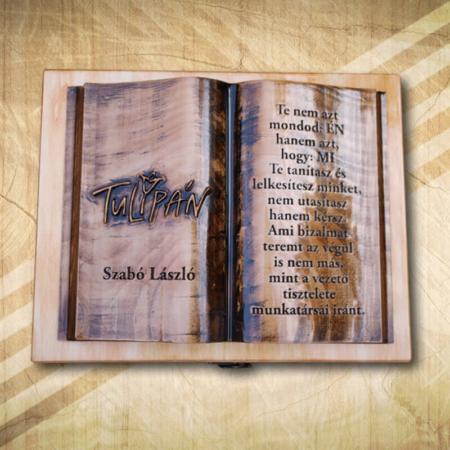Céges ajándék fakönyv