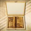 Esküvői ajándékfakönyv díszdobozban