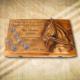 Fa pálinkás pohártartó lovasoknak-Mívesfa