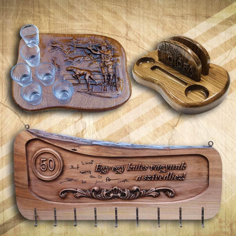 Fából készült ajándéktárgyak