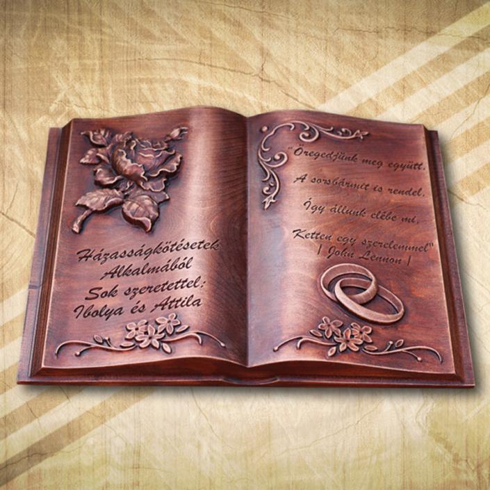 Ajándék esküvőre fakönyv A3