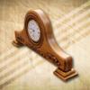 Kandalló óra fiatalos világos színben