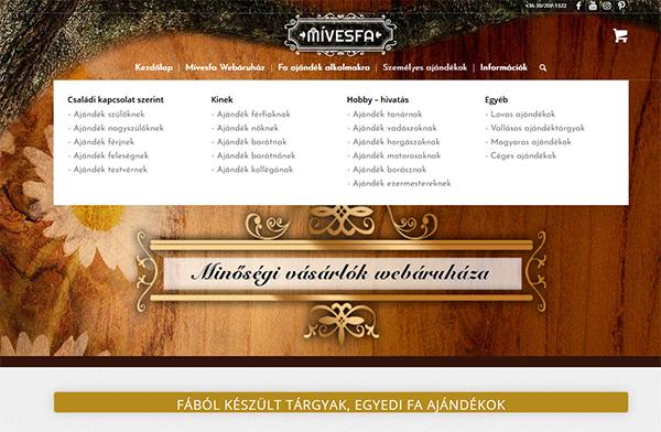 Kategória oldal személyes ajándékok Mívesfa
