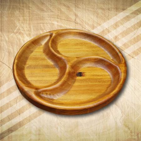 Kínáló tálca fából 3 részes