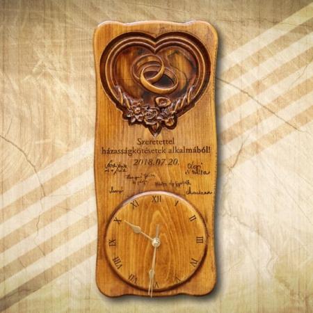 Nászajándék házasságkötésre különleges falióra