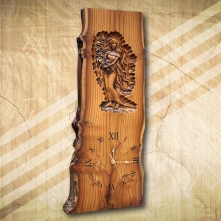 Női akt fa falióra2