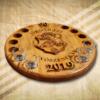 Egyedi pálinkás készlet Ofze dombor címerrel-Mívesfa