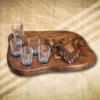 Pálinkás pohárkészlet születésnapra 6 pohárral-Mívesfa