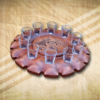 Pálinkás pohártartó quad mintával-Mívesfa