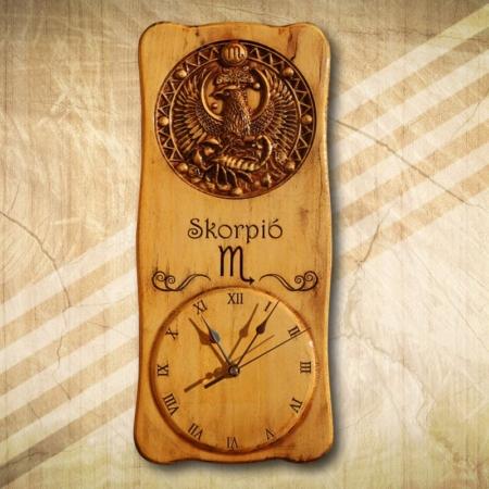 horoszkópos falióra skorpió csillagjeggyel