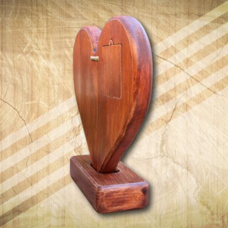 Szív fomájú asztali óra akasztós kivitelben