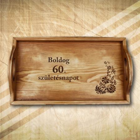 Ajándék tálca 60. születésnapra