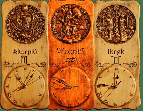 Horoszkópos falióra
