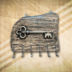 Vintage fa kulcstartó